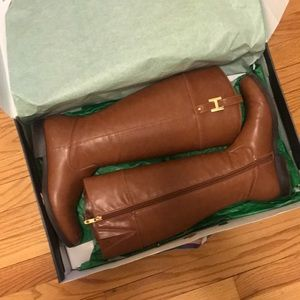 Tall Brown Riding Boots. Tommy Hilfiger. Size 9.5M